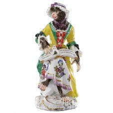 Meissen Monkey Band - Figurine of a Singer II, Female